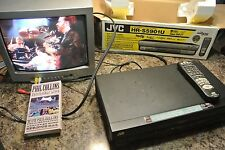 JVC HR-S5901U Super S- VHS Video Cassette Recorder VCR Hi-Fi Tape Player BLACK