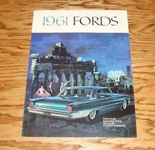 Original 1961 Ford Full Size Sales Brochure Fairlane Galaxie Starliner 61
