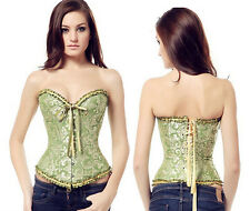 Green patterned Corset, sexy, goth, gothic, steampunk, victorian, Hooks, lace