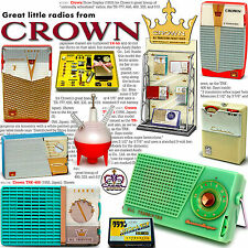 Great Little Radios from Crown: transistor, tube & crystal too FULL COLOR book