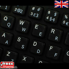 Portuguese Traditional Transparent Keyboard Stickers With White Letters