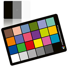 2 in 1 Grey White Balance Colour Card: The 6x4 Matt Plastic Card
