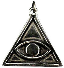 PENDANT - Evil Eye / All-Seeing Eye / Eye of Providence Pewter Amulet w/Card