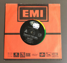 "HEART - There's The Girl / Bad Animals 7"" Vinyl Single GD+ 1987 Australian Press"