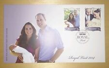 New Zealand Royal Visit Baby Prince George Cambridge William Kate stamp FDC 2014
