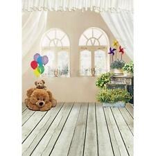 3x5FT Vinyl Indoor Wood Floor Kids Photography Background Backdrop Studio Props