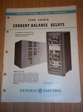 Vtg GE General Electric Catalog~Type IJC51A Current-Balance Relays~1947