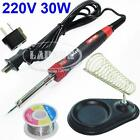 30W Electric Welding Soldering Iron Kit Tool Solder Wire Reel Stand AU Adapter