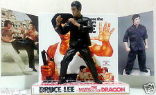 BRUCE LEE - THE WAY OF THE DRAGON Action Figure on Custom Design Display Diarama