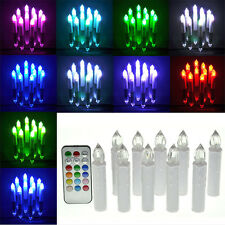10pcs Remote Control Colorful Flameless LED Tea light Candles Battery Operated