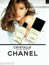 PUBLICITE ADVERTISING 096  1994  Chanel   eau de parfum Cristalle