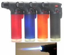 "Jumbo 4"" Single Jet Flame Side Torch Gun Lighter Windproof Refillable Cigarette"