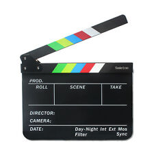 Color Strip Film Slate Clapper Movie Slate Clapboard For DSLR Camera Production