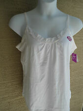 NWT JUST MY SIZE STRETCH COTTON BLEND ADJUSTABLE STRAPS  LACE TRIMED CAMI TOP 3X