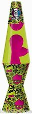Monster High 11.5 inch HIGH VOLTAGE Lava Lamp GREEN &PINK NIB