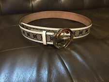 Men's Gucci Belt GG Guccissima Gold Blue White Italy 38 Italian Leather royal