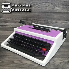 Excellent Underwood 315 Purple & White Typewriter Working Black Red Ribbon