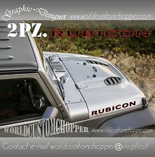2 ADESIVI STIKERS DECAL FUORISTRADA JEEP RUBICON WRANGLER 4X4 OFF ROAD JEEP