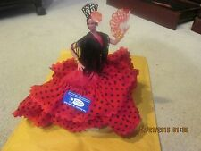 "MARIN SPANISH FLAMENCO DANCER DOLL APPROX. 12"" TALL NEW WITH TAG"