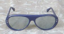 VINTAGE I SKI RALLY 461 BLUE BLACK MIRRORED SUNGLASSES JAPAN EXCELLENT
