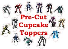 Transformers X24 Comestibles Stand Up Cup Cake Toppers Oblea Papel * Precortadas *