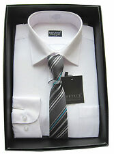 Shirt And Tie Set Boys Formal/Smart Shirt Long Sleeved By Device Ages 1Y-15Years