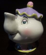 RARE Disney Mrs. Potts Beauty and the Beast Ceramic Porcelain Figure Statue