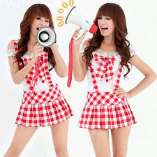 New Sexy Lingerie Japanese Stripes White School Uniforms Costume cosplay GG