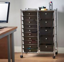 Home Office Beauty Salon Make Up Mobile Storage Trolley Unit Organiser Drawer UK