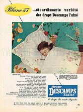 PUBLICITE ADVERTISING 024   1957    DESCAMPS  L'AINE   DRAPS