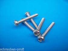 100 Edelstahl Schrauben TORX Sortiment M3 -M6 DIN 7985