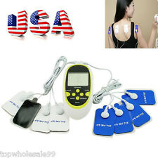 USB Therapy Machine Pulse Acupuncture Massager W 8 Pads Body Adhering Beauty US