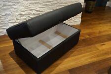 Echtleder Hocker aufklappbar mit Stauraum SitzHocker Rindsleder Sitzwürfel 90x55