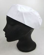 Unisex Professional Chef Chefs Caterer Cooks Catering Elasticated Skull Cap Hat