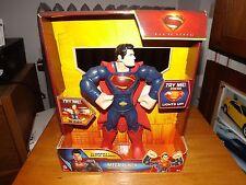 """MAN OF STEEL, MEGA PUNCH SUPERMAN 10"""" FIGURE, LIGHTS UP AND SPEAKS, NIB, 2013"""