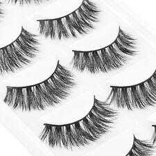5 Pairs 100% Natural Thick False Fake Eyelashes Eye Lashes Makeup Extension New