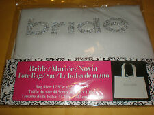 "WEDDING TOTE BRIDE 100% COTTON 17.5"" W X 12"" H X 4.25"""