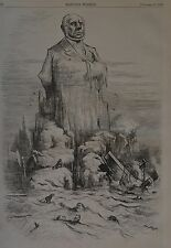 Harper's Weekly, 1876. Thomas Nast. Struck - At Sea. Wood Engraving.