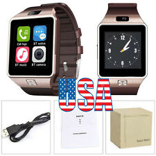 US Stock Gold DZ09 Smart Bluetooth Watch GSM SIM SD Card Phone for Android IOS