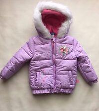 New TODDLER Girls 2T Disney ANNA & ELSA Frozen COAT Puffer JACKET Purple