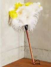 """NEW ANTHROPOLOGIE OSTRICH FEATHER DUSTER """"COLOR POP"""" WITH PINE WOOD HANDLE~RARE"""