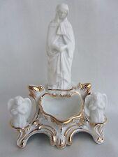Porzellan WEIHWASSERKESSEL Weihwasserbehälter Mutter Gottes Engel Madonna Figur