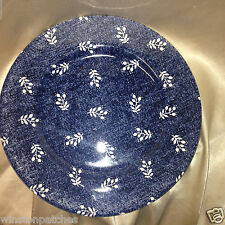 "RALPH LAUREN CHINA ENGLAND DENIMWARE KATE 10 3/4"" DINNER PLATE WHITE FLOWERS"