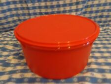 "TUPPERWARE ~ 12"" GIANT CANISTER 42 CUP (10 L) Great for cakes & pies! ORAN ~ NEW"