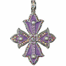 NEW KIRKS FOLLY CROSS OF THE SEA MAGNETIC ENHANCER  SILVERTONE/PURPLE