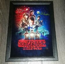 "STRANGER THINGS PP SIGNED FRAMED A4 12""X8"" PHOTO POSTER WINONA RYDER BOBBY BROWN"