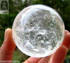 Collectible Gemstone clear QUARTZ CRYSTAL SPHERE Ball RARE SIZE 46MM + Gift