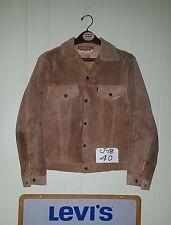 60's Vtg LEVI'S BIG E Suede Leather Trucker Jacket Beige Tan Men's 40 Medium USA