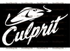 Culprit Lures - Fishing / Outdoors Sports - Vinyl Die-Cut Peel N' Stick Decal