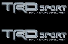 TOYOTA TRD SPORT SILVER Decals /Vinyl Stickers 1 PAIR truck bed FREE SHIPPING